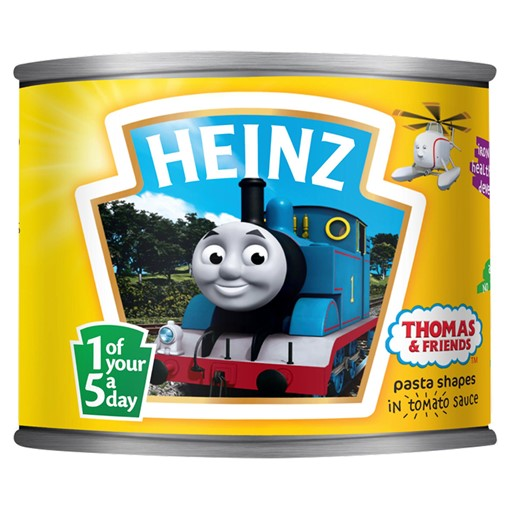 Picture of Heinz Thomas & Friends Pasta Shapes in Tomato Sauce 205g