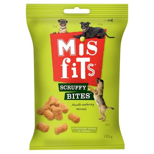 Picture of Misfits Scruffy Bites Dog Treats 180g