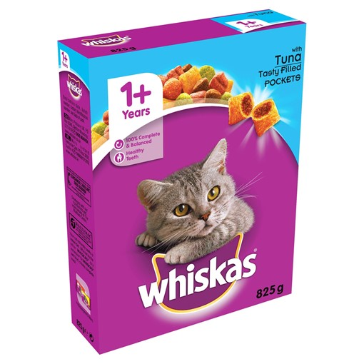 Picture of Whiskas Adult Complete Dry Cat Food Biscuits Tuna 825g