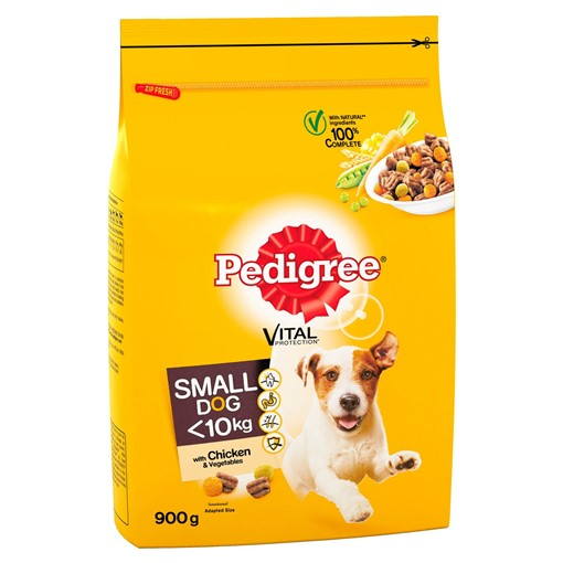 Picture of Pedigree Adult Small Dog Complete Dry Dog Food Chicken & Vegetables 900g