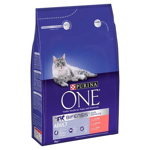 Picture of Purina ONE Adult Dry Cat Food Salmon and Wholegrain 3kg