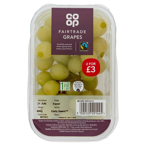 Picture of Co-op Fairtrade Grapes 400g