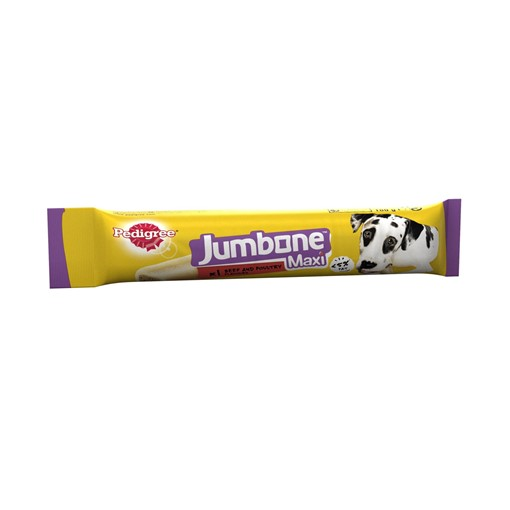 Picture of Pedigree Jumbone Maxi Adult Large Dog Treat Beef & Poultry 1 Chew 180g