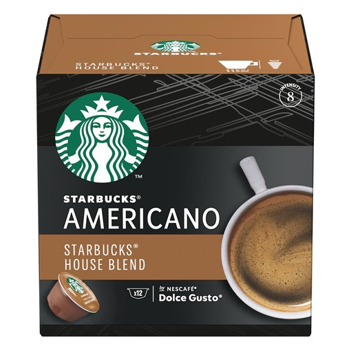 Picture of Starbucks Americano House Blend by Nescafe Dolce Gusto Coffee Pods x 12
