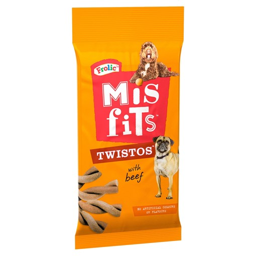 Picture of Misfits Twistos Dog Treats with Beef 105g
