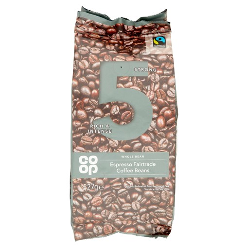 Picture of Co-op Espresso Fairtrade Coffee Beans 227g