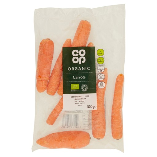 Picture of Co-op Organic Carrots 500g
