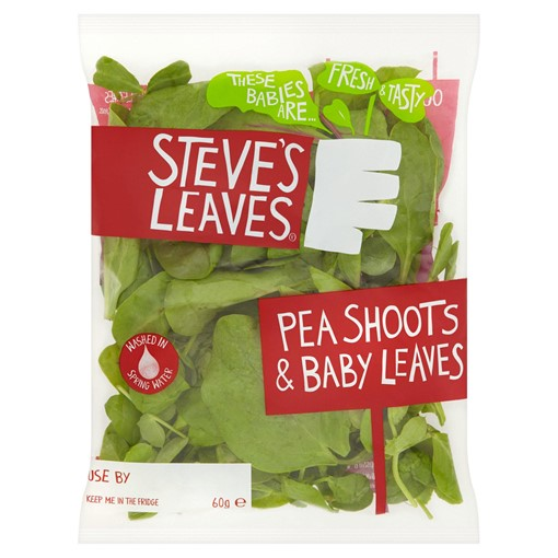 Picture of Steve's Leaves Pea Shoots & Baby Leaves 60g