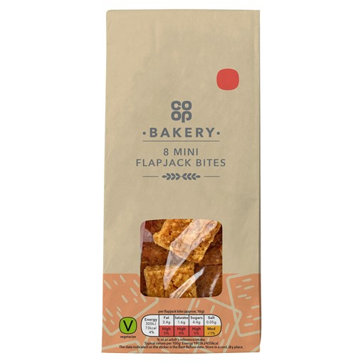 Picture of Co-op Bakery 8 Mini Flapjack Bites