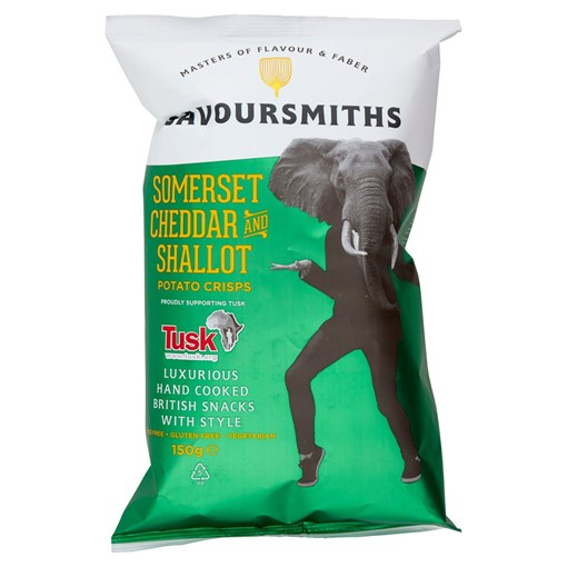 Picture of Savoursmiths Somerset Cheddar and Shallot Potato Crisps 150g