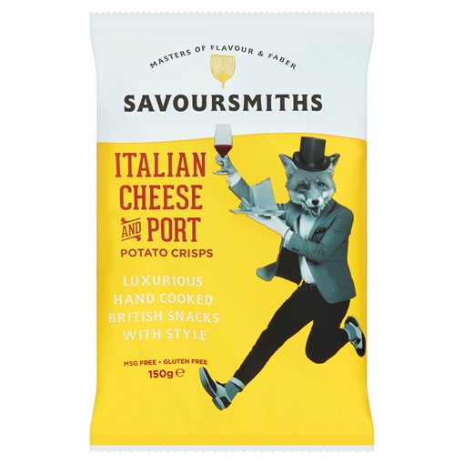 Picture of Savoursmiths Italian Cheese and Port Potato Crisps 150g