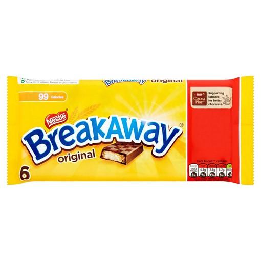 Picture of Breakaway Milk Chocolate Biscuit Bar Multipack 6 Pack PMP £1
