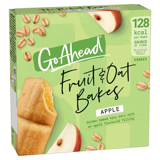 Picture of Go Ahead 6 Fruit & Oat Bakes Apple 210g