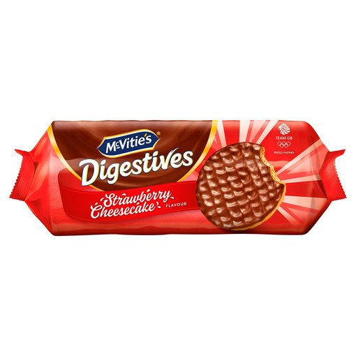 Picture of McVitie's Digestives Strawberry Cheesecake Flavour 243g