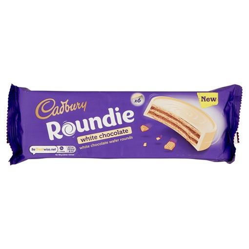 Picture of Cadbury Roundie White Chocolate Biscuits 6 Pack 180g