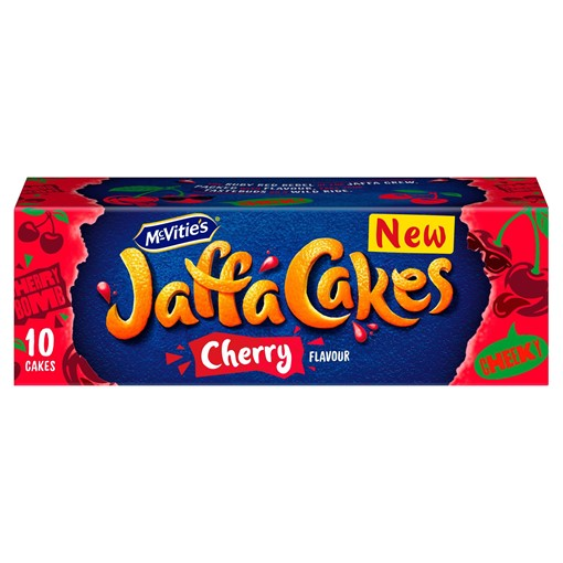 Picture of McVitie's Jaffa Cakes Cherry Flavour Biscuits 10 Pack