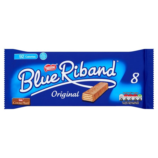 Picture of Blue Riband Milk Chocolate Wafer Biscuit Bar Multipack 8 Pack
