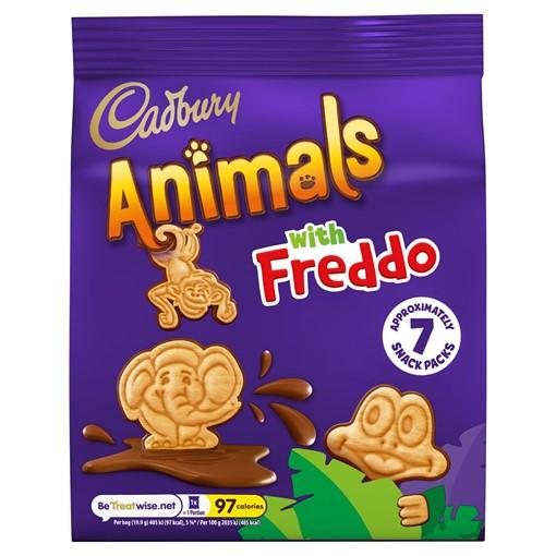 Picture of Cadbury Animals Mini Biscuits 6 Pack 132g
