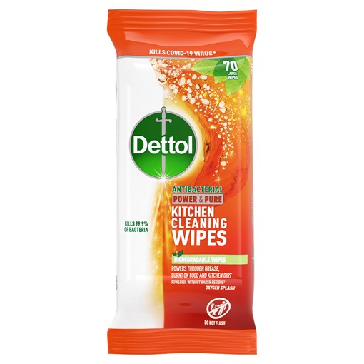 Picture of Dettol Kitchen Cleaning Wipes Power & Pure 80ea