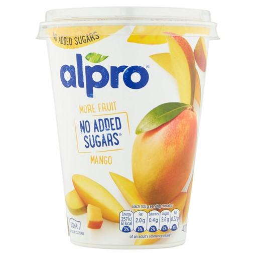Picture of Alpro More Fruit No Added Sugars Mango Yoghurt Alternative 400g
