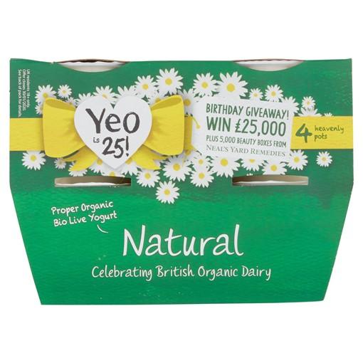 Picture of Yeo Valley Organic Natural Creamy Bio Live Yogurt 4 x 120g (480g)