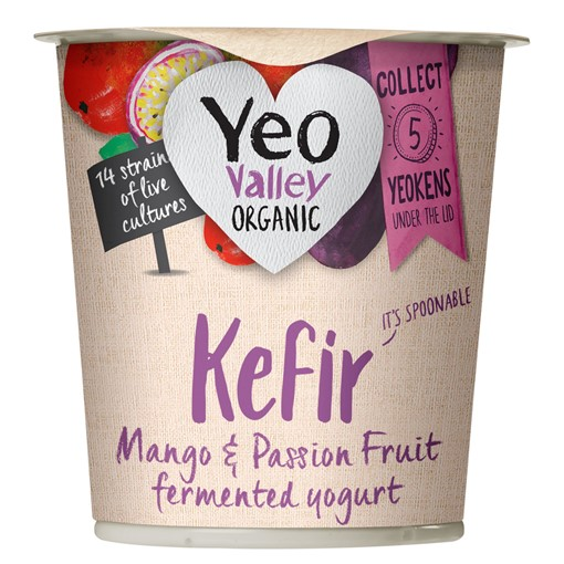 Picture of Yeo Valley Organic Kefir Mango & Passion Fruit Fermented Yogurt 150g