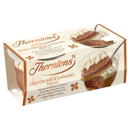 Picture of Thorntons Chocolate & Caramel Trifle 2 x 95g