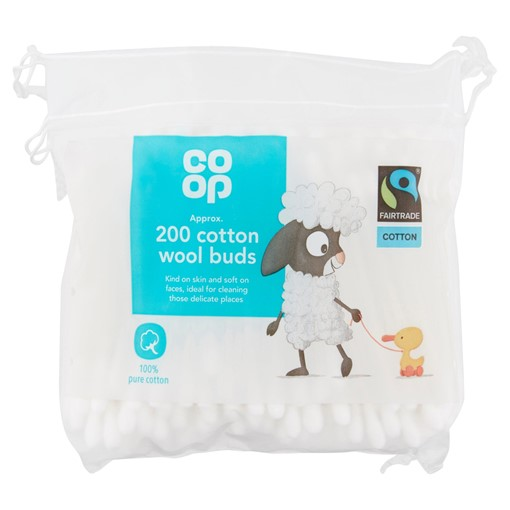 Picture of Co-op Fairtrade 200 Cotton Wool Buds