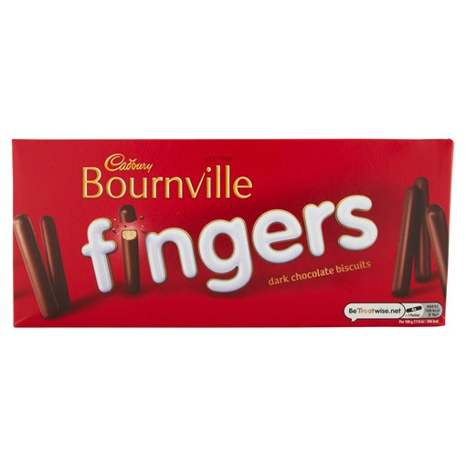 Picture of Cadbury Bournville Fingers Dark Chocolate Biscuits 114g