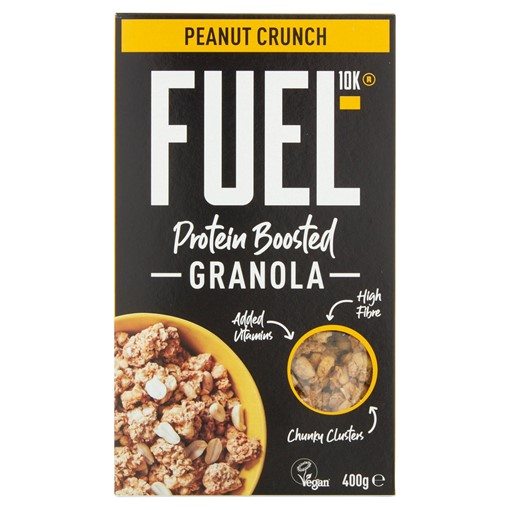 Picture of FUEL10K Protein Boosted Peanut Loaded Chunky Granola 400g