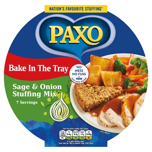 Picture of Paxo Bake in the Tray Sage & Onion Stuffing Mix 100g