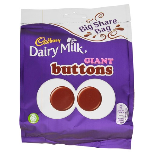 Picture of Cadbury Dairy Milk Giant Buttons Chocolate Bag 240g