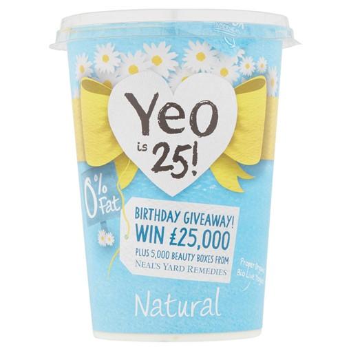 Picture of Yeo Valley Organic 0% Fat Natural Light Bio Live Yogurt 500g