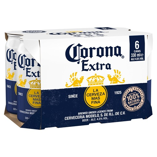Picture of Corona Lager Beer Cans 6 x 330ml