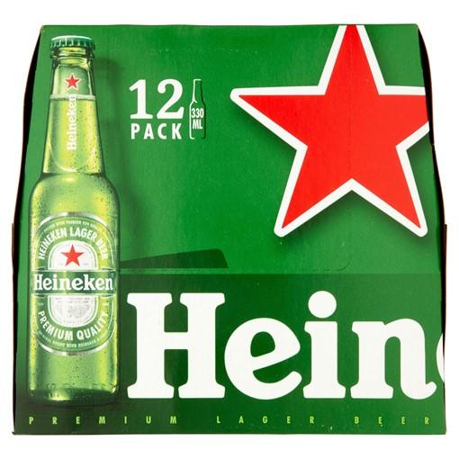 Picture of Heineken Lager Beer 12 x 330ml Bottles