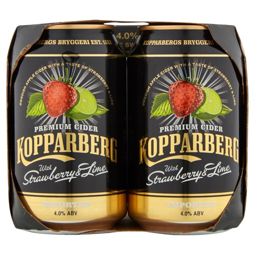 Picture of Kopparberg Premium Cider with Strawberry & Lime 4 x 330ml