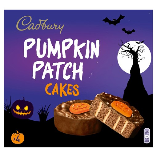 Picture of Cadbury 4 Pumpkin Patch Cakes