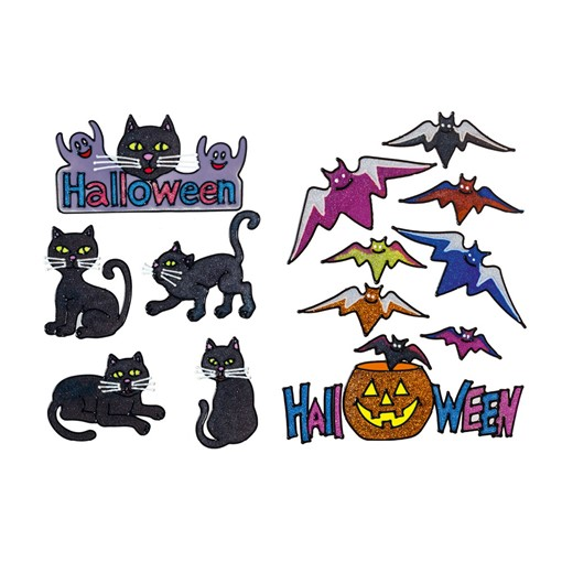 Picture of 38cm Bat and Cats Window Sticker 2