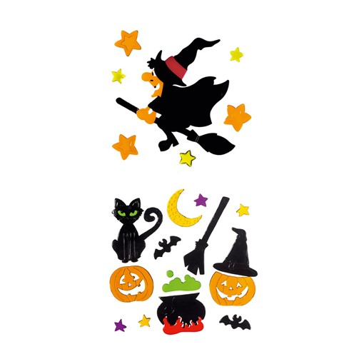 Picture of Gel Window Sticker Witches 2 Asst