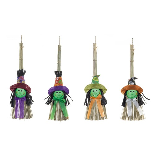 Picture of 53cm Craft Witches Broom 4 Asst