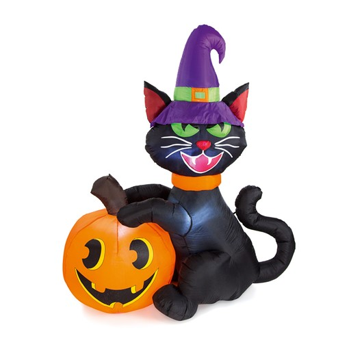 Picture of 1.8m Black Cat and Pumpkin Inflatab