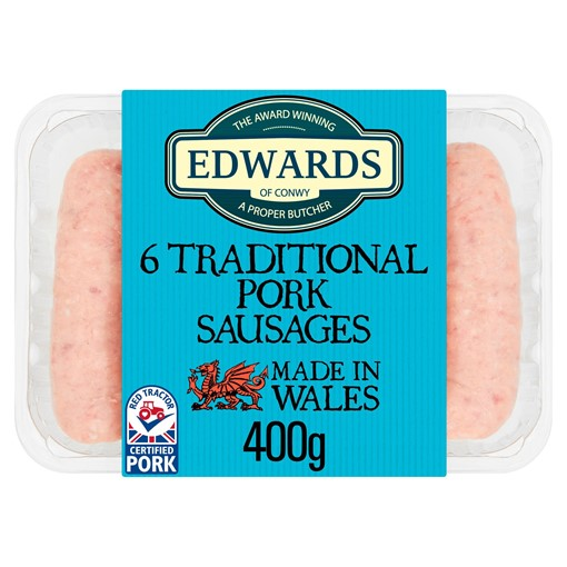 Picture of Edwards of Conwy 6 Traditional Pork Sausages 400g