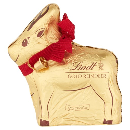 Picture of Lindt Gold Reindeer Milk Chocolate 100g