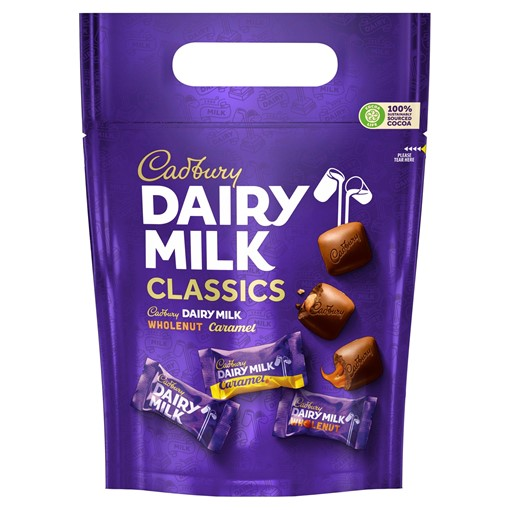 Picture of Cadbury Dairy Milk Classics Mixed Chocolate Chunks Pouch 350g