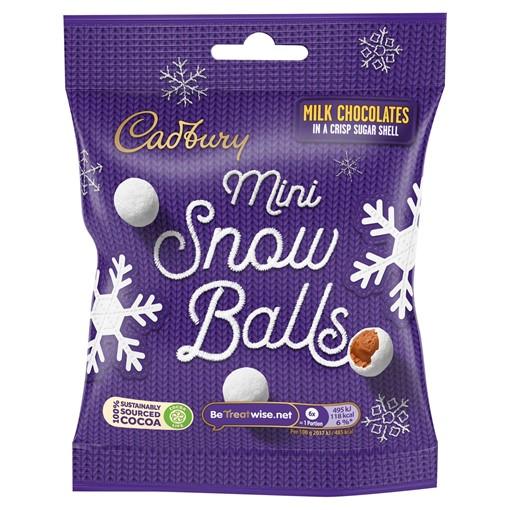 Picture of Cadbury Chocolate Mini Snowballs Bag 80g
